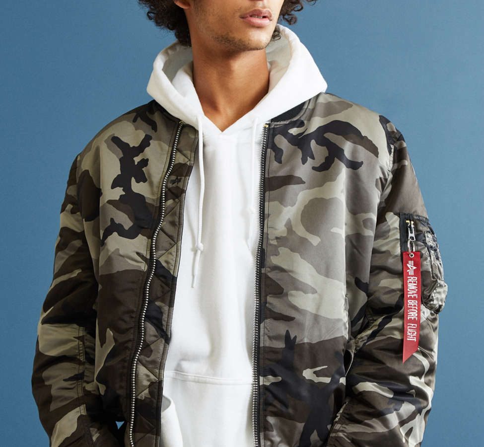 Slide View: 2: Alpha Industries MA-1 Slim Fit Bomber Jacket