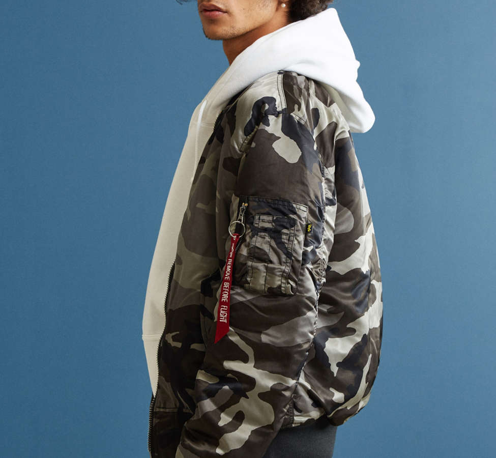Slide View: 3: Alpha Industries MA-1 Slim Fit Bomber Jacket