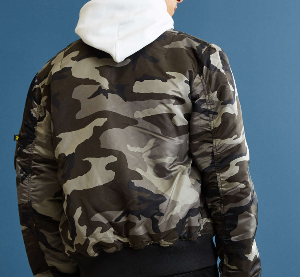 Slide View: 4: Alpha Industries MA-1 Slim Fit Bomber Jacket