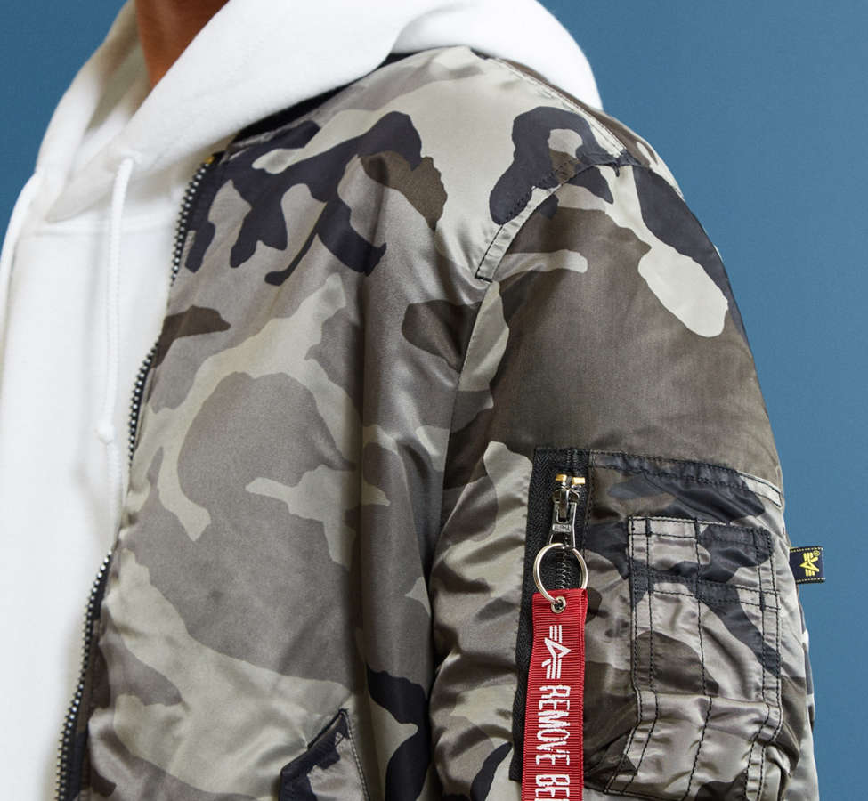 Slide View: 5: Alpha Industries MA-1 Slim Fit Bomber Jacket