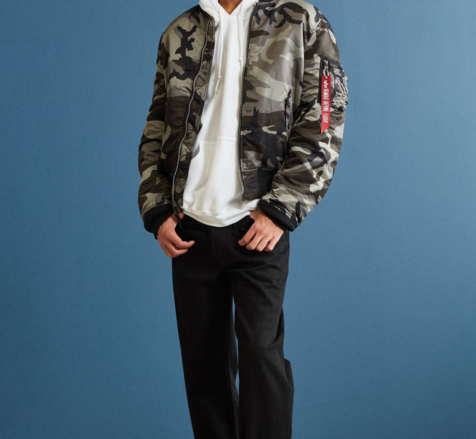 Slide View: 6: Alpha Industries MA-1 Slim Fit Bomber Jacket