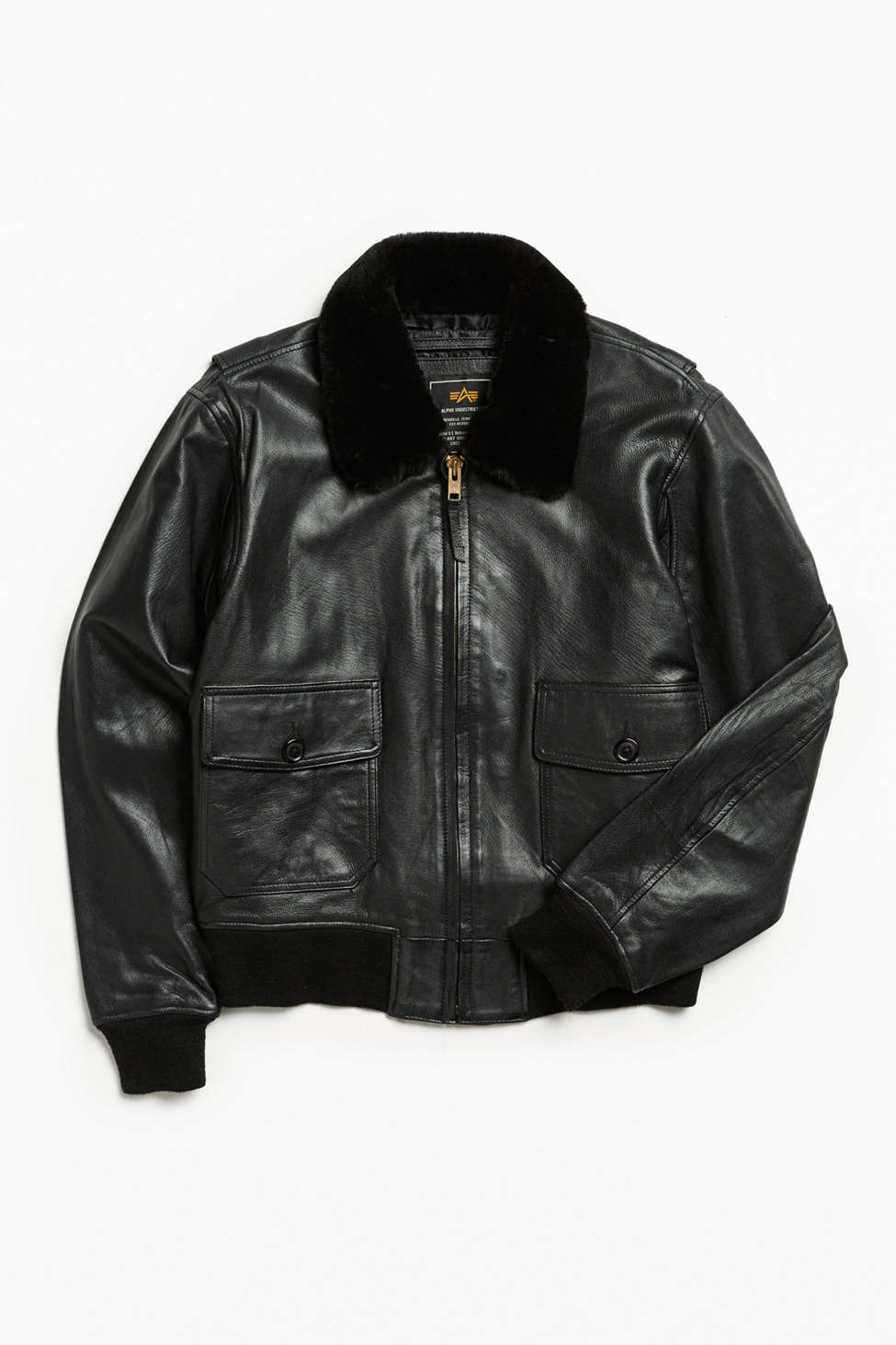 Alpha Industries G-1 Leather Bomber Jacket | Urban Outfitters