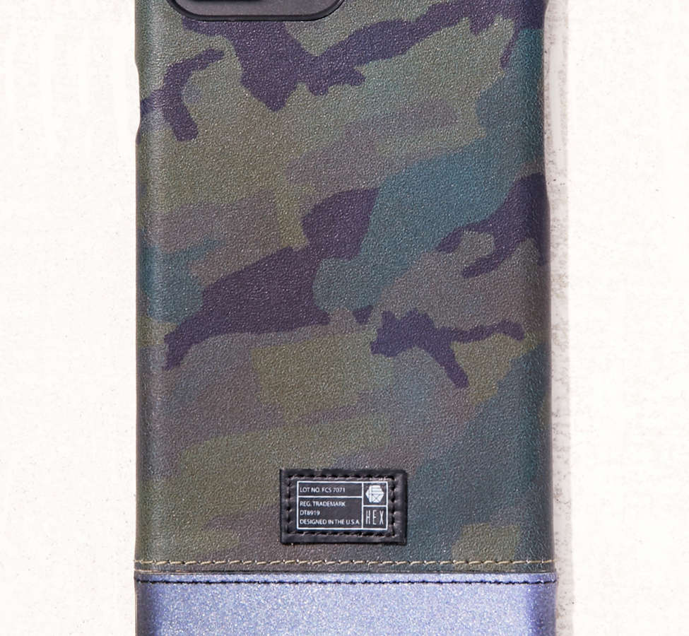 Slide View: 1: HEX Camo Leather Reflective iPhone 6 Plus/7 Plus Case