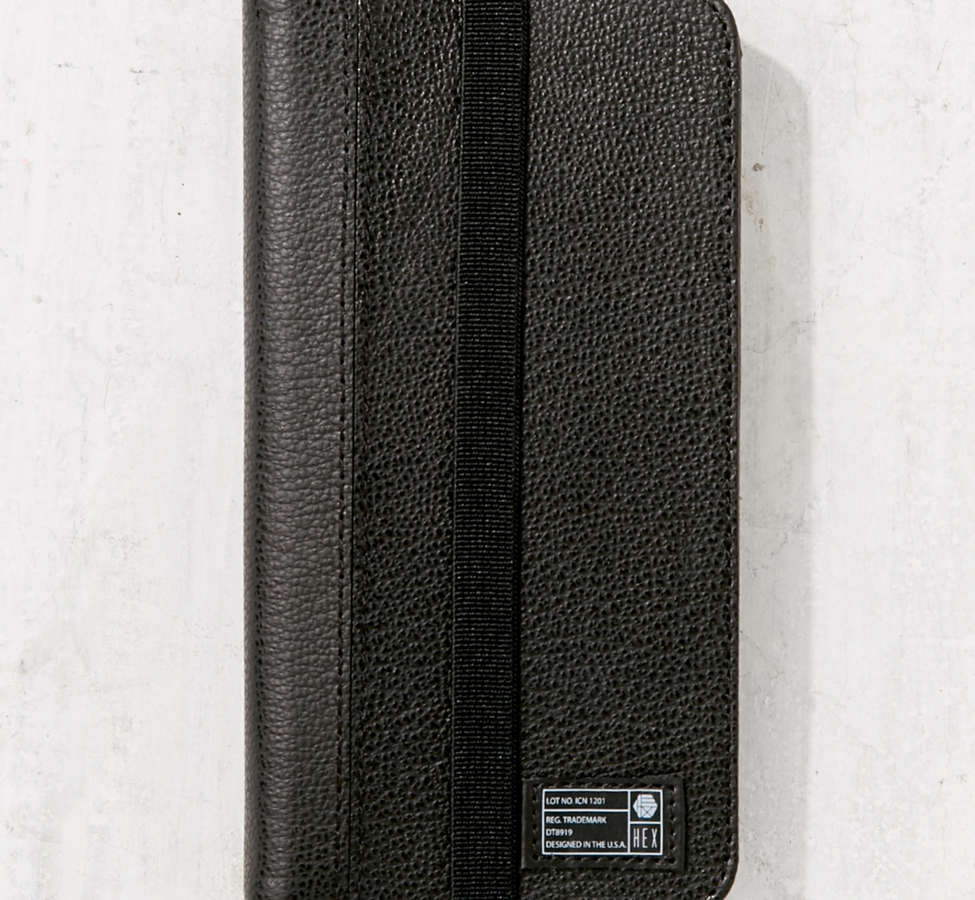 Slide View: 1: HEX Leather Wallet iPhone 6/7 Case