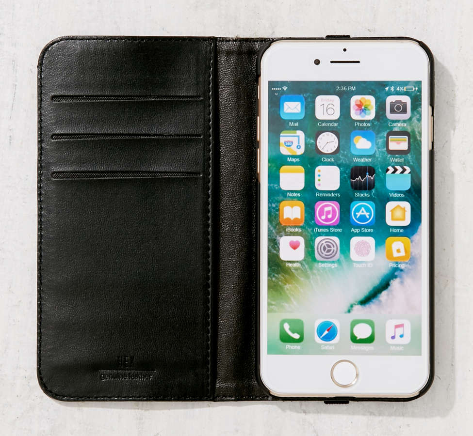 Slide View: 3: HEX Leather Wallet iPhone 6/7 Case