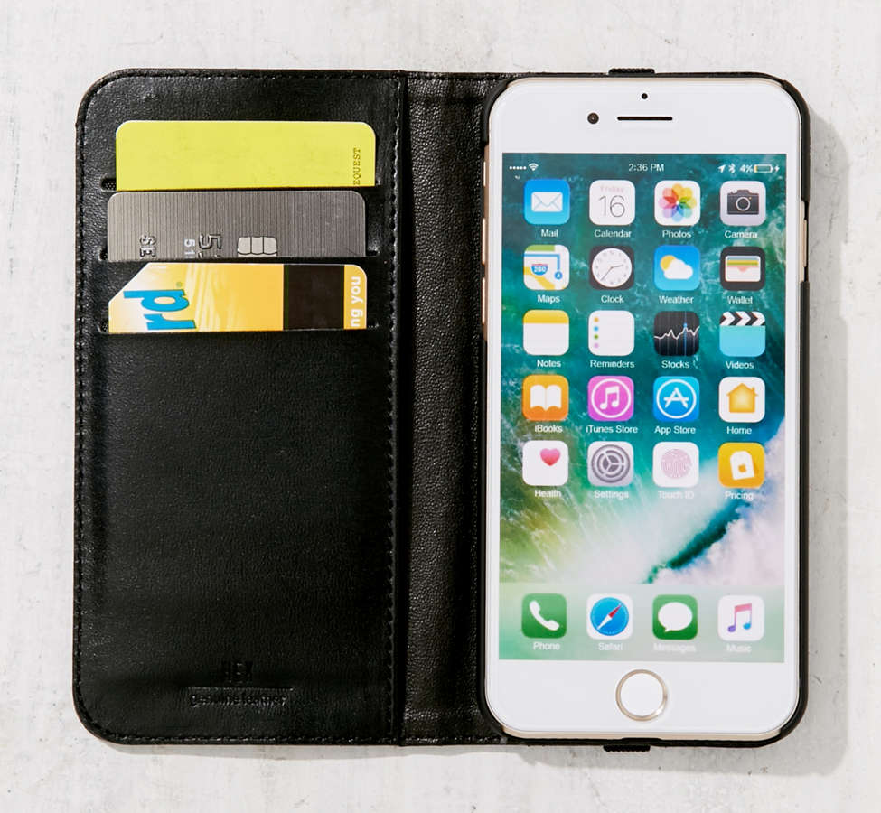 Slide View: 4: HEX Leather Wallet iPhone 6/7 Case
