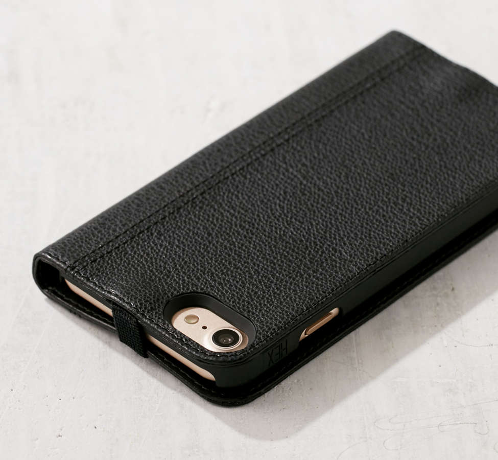 Slide View: 5: HEX Leather Wallet iPhone 6/7 Case