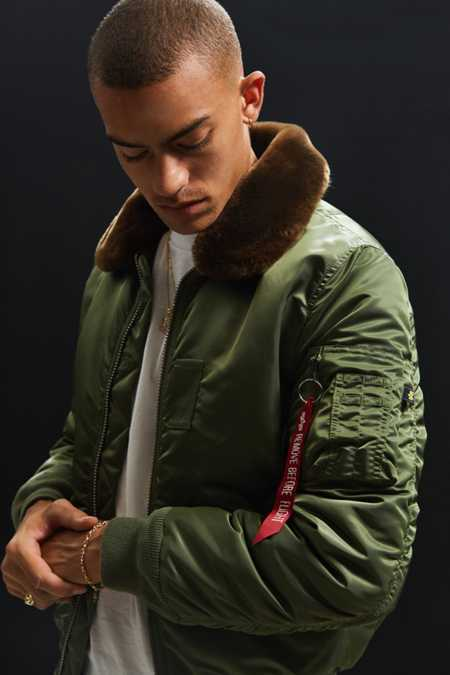 Alpha Industries B-15 Slim-Fit Bomber Jacket