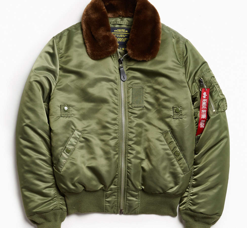 Slide View: 2: Alpha Industries B-15 Slim-Fit Bomber Jacket