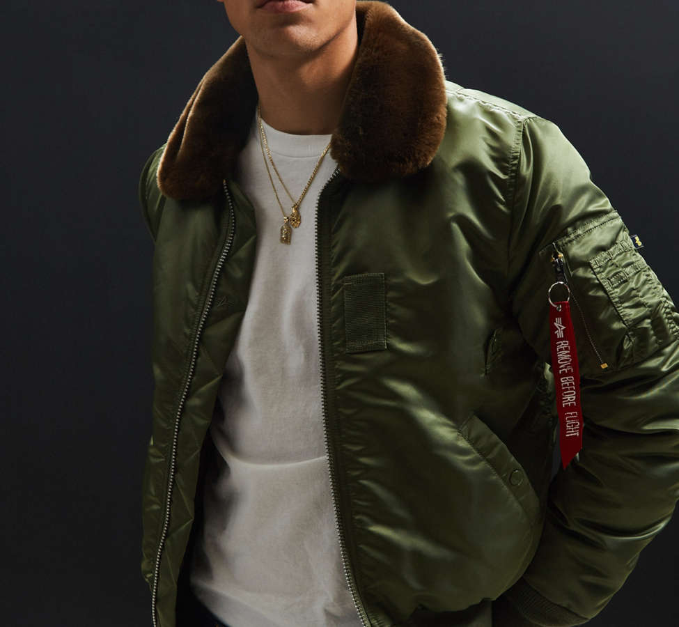 Slide View: 3: Alpha Industries B-15 Slim-Fit Bomber Jacket