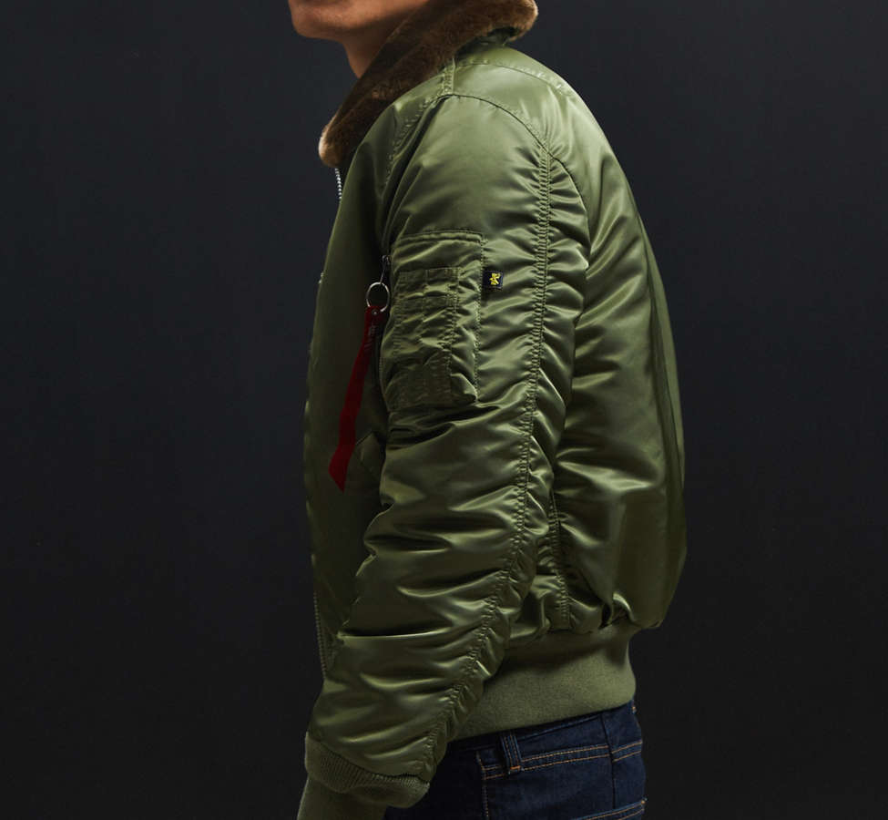 Slide View: 4: Alpha Industries B-15 Slim-Fit Bomber Jacket