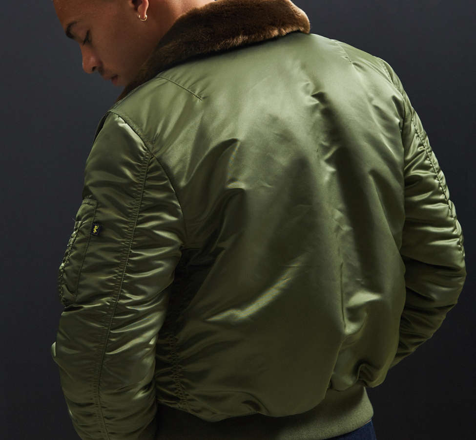 Slide View: 5: Alpha Industries B-15 Slim-Fit Bomber Jacket