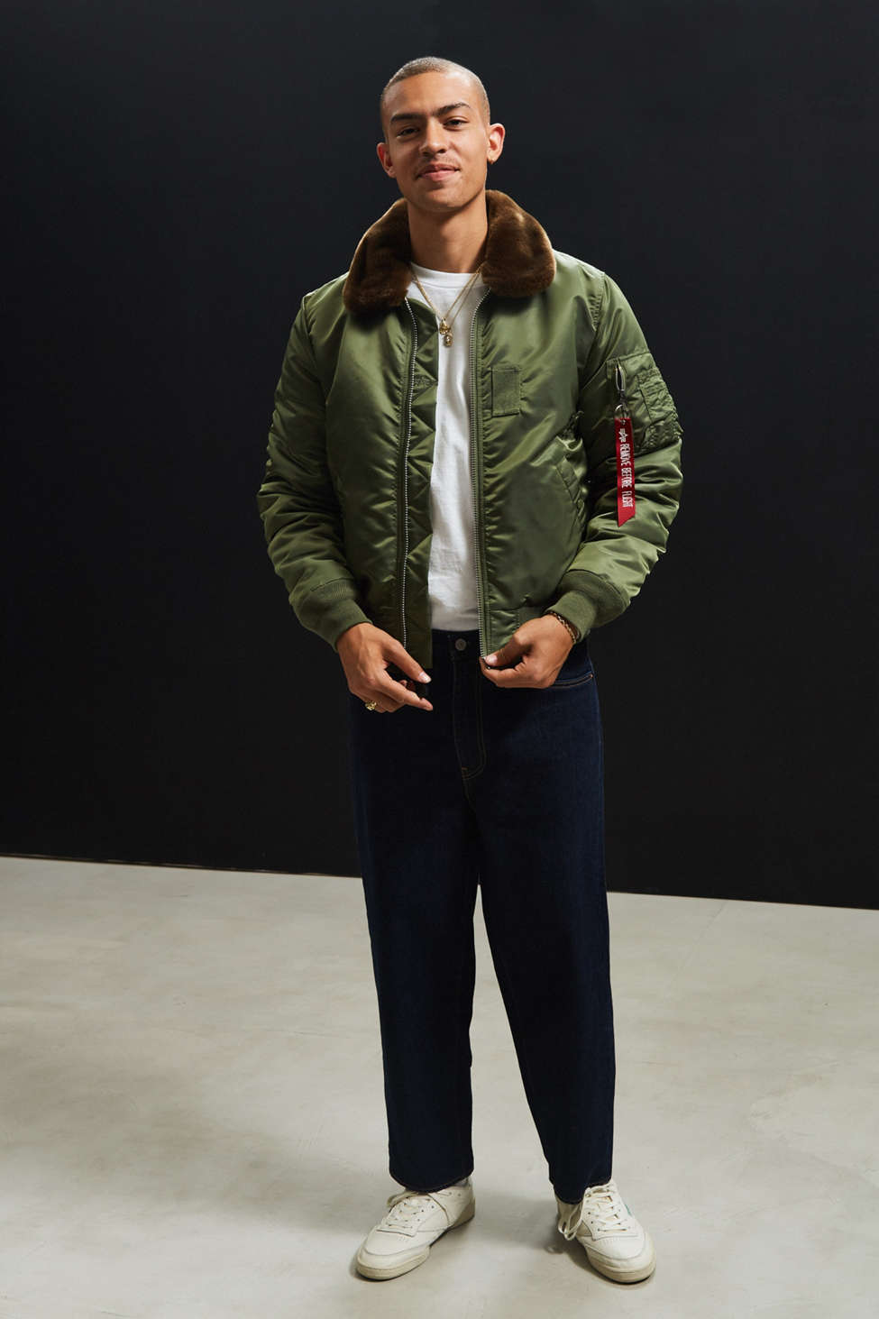 Alpha Industries B-15 Slim-Fit Bomber Jacket | Urban Outfitters