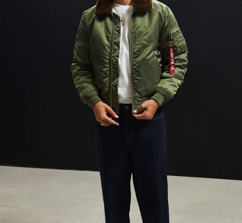 Slide View: 6: Alpha Industries B-15 Slim-Fit Bomber Jacket