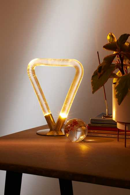 Helios Acrylic Triangle Table Lamp