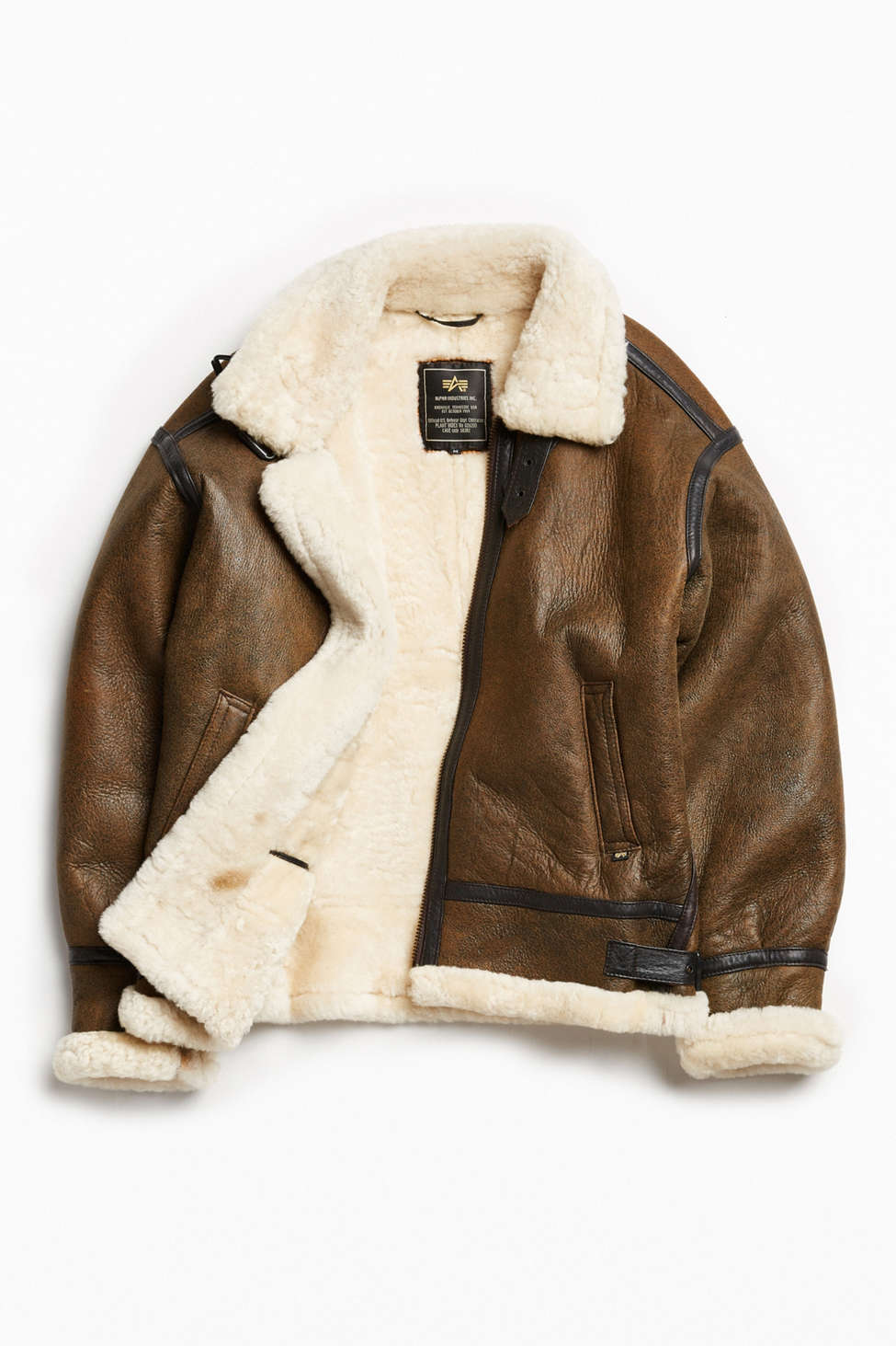 Alpha Industries B-3 Sheepskin Bomber Jacket | Urban Outfitters Canada