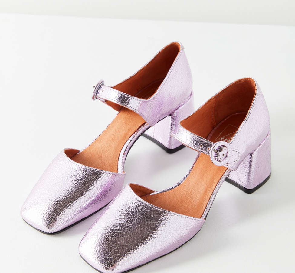 Slide View: 1: Crosswalk Rosa Metallic Mary Jane Heel