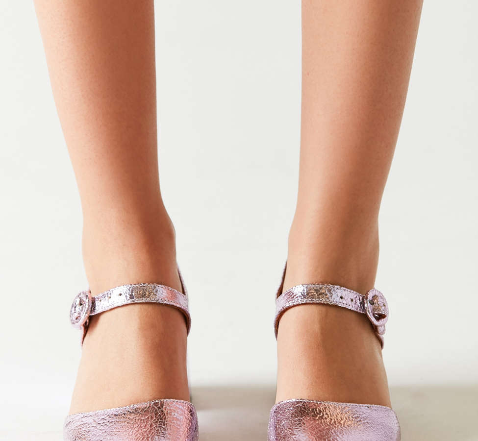 Slide View: 3: Crosswalk Rosa Metallic Mary Jane Heel