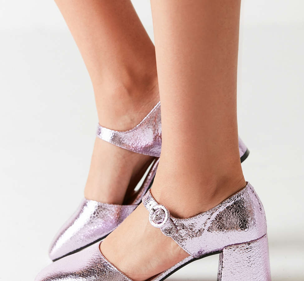 Slide View: 4: Crosswalk Rosa Metallic Mary Jane Heel