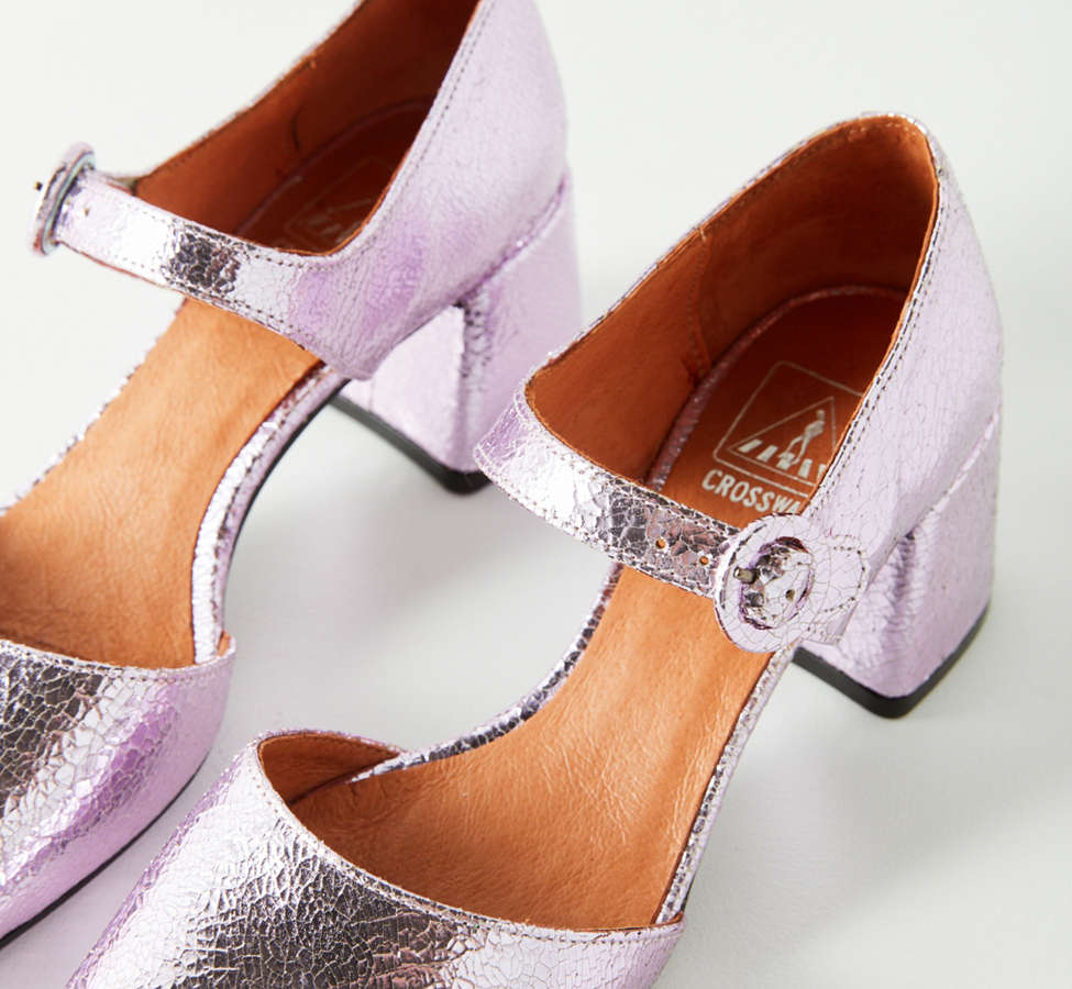 Slide View: 5: Crosswalk Rosa Metallic Mary Jane Heel