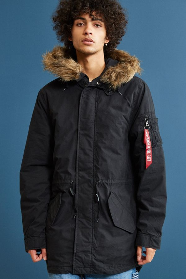 Alpha Industries J4 Fishtail Parka Jacket | Urban Outfitters