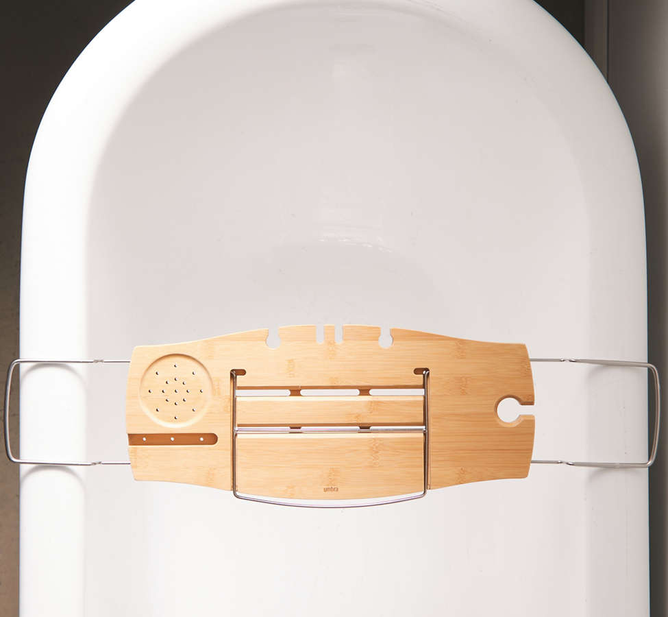 Slide View: 2: Me Time Bamboo Bath Tray Caddy