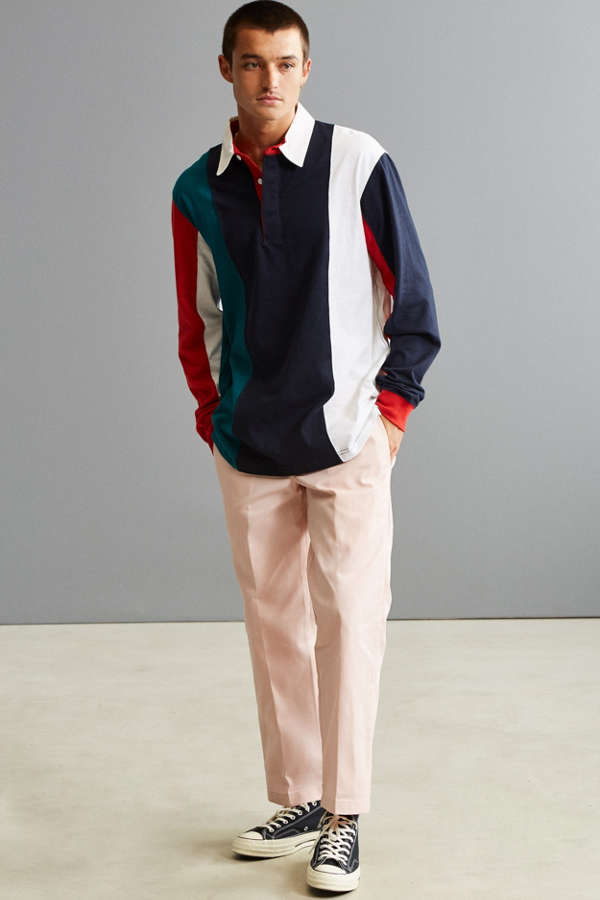 Slide View 6 Uo Archie Striped Rugby Shirt
