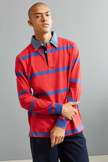UO Archie Horizontal Striped Rugby Shirt
