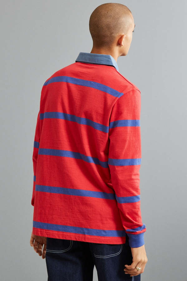 Slide View 4 Uo Archie Striped Rugby Shirt
