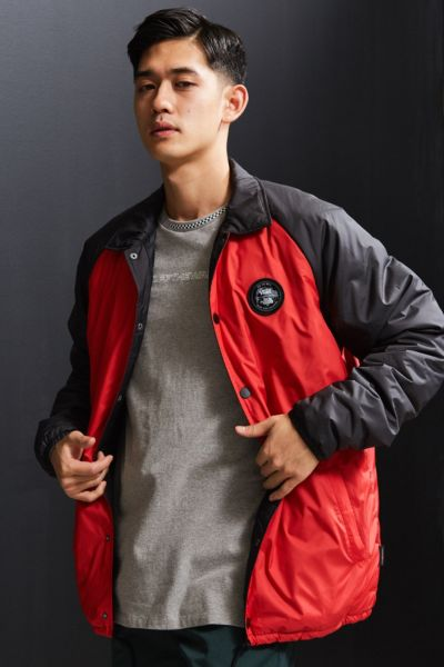Vans X The North Face Torrey Coach Jacket - Red S at Urban Outfitters