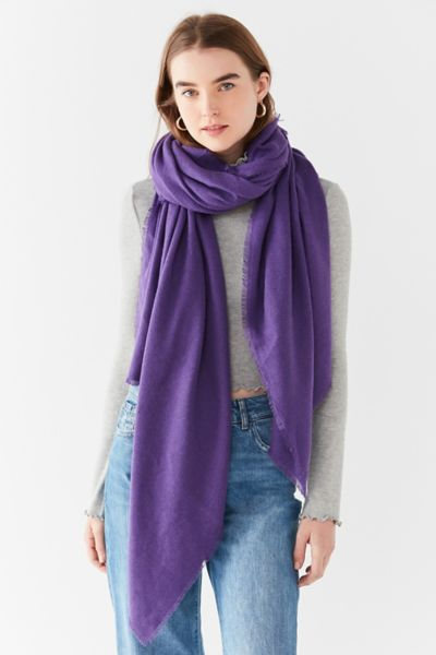 Brushed Woven Blanket Scarf - Purple One Size at Urban Outfitters