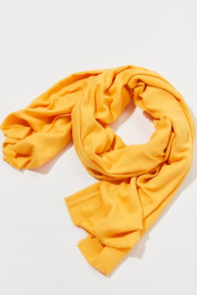Brushed Woven Blanket Scarf - Gold One Size at Urban Outfitters
