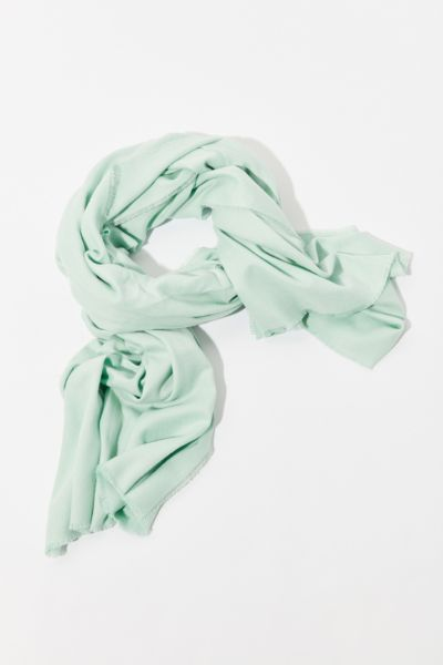 Brushed Woven Blanket Scarf - Mint One Size at Urban Outfitters