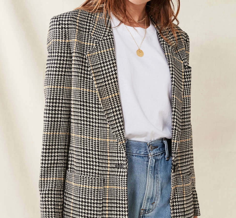 Slide View: 1: Vintage Oversized Blazer