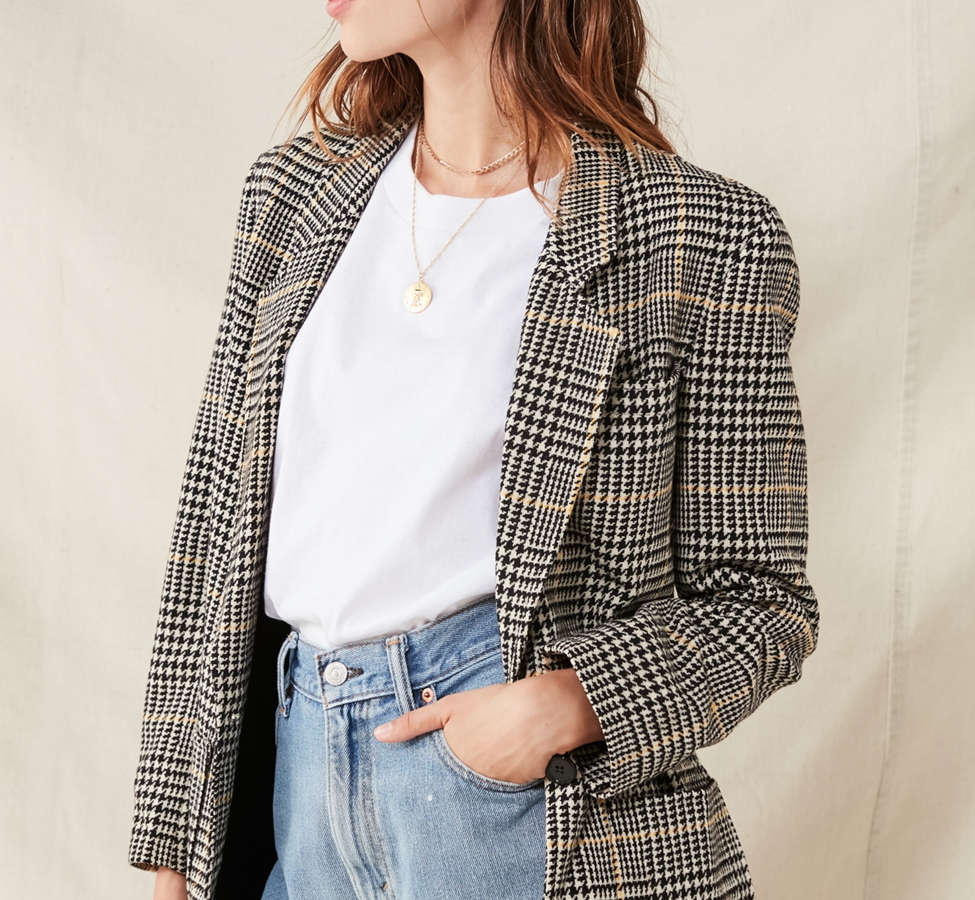 Slide View: 4: Vintage Oversized Blazer