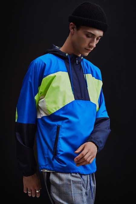 UO '90s Colorblocked Anorak Windbreaker Jacket