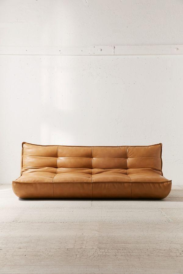 Slide View 3 Greta Recycled Leather Xl Sleeper Sofa