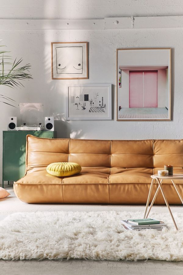 Slide View 6 Greta Recycled Leather XL Sleeper Sofa