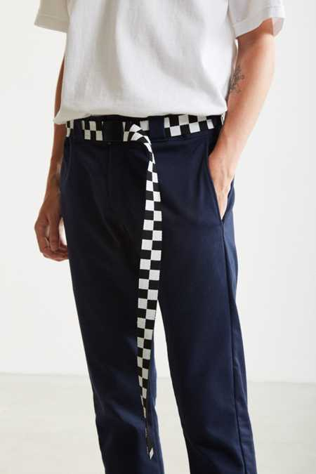 UO Checkered Extra Long Web Belt