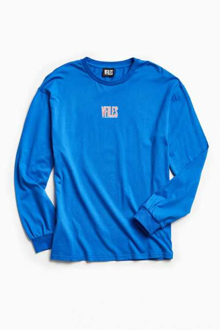 VFILES Royal Blue Oversized Long Sleeve Tee