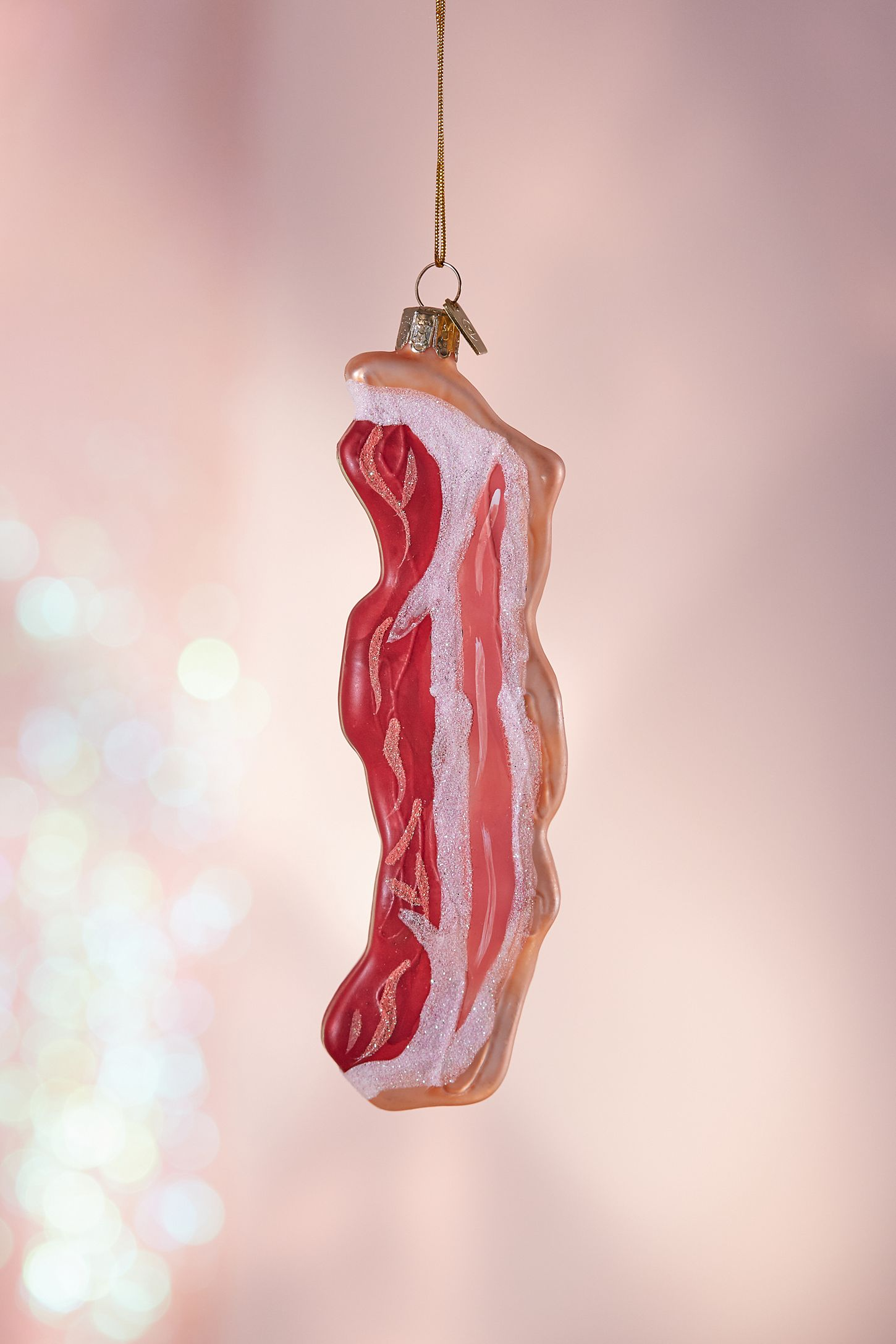 Glitter Bacon Christmas Ornament | Urban Outfitters