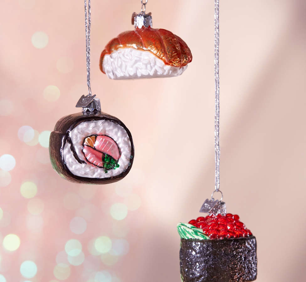 Slide View: 1: Sushi Ornament - Set Of 3
