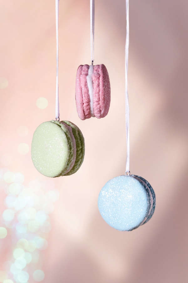 Glitter Macaroon Christmas Ornament  Set Of 3  Urban Outfitters