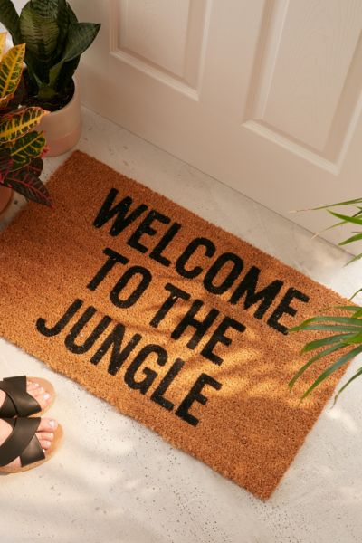 Reed Wilson Design Jungle Doormat - Brown One Size at Urban Outfitters