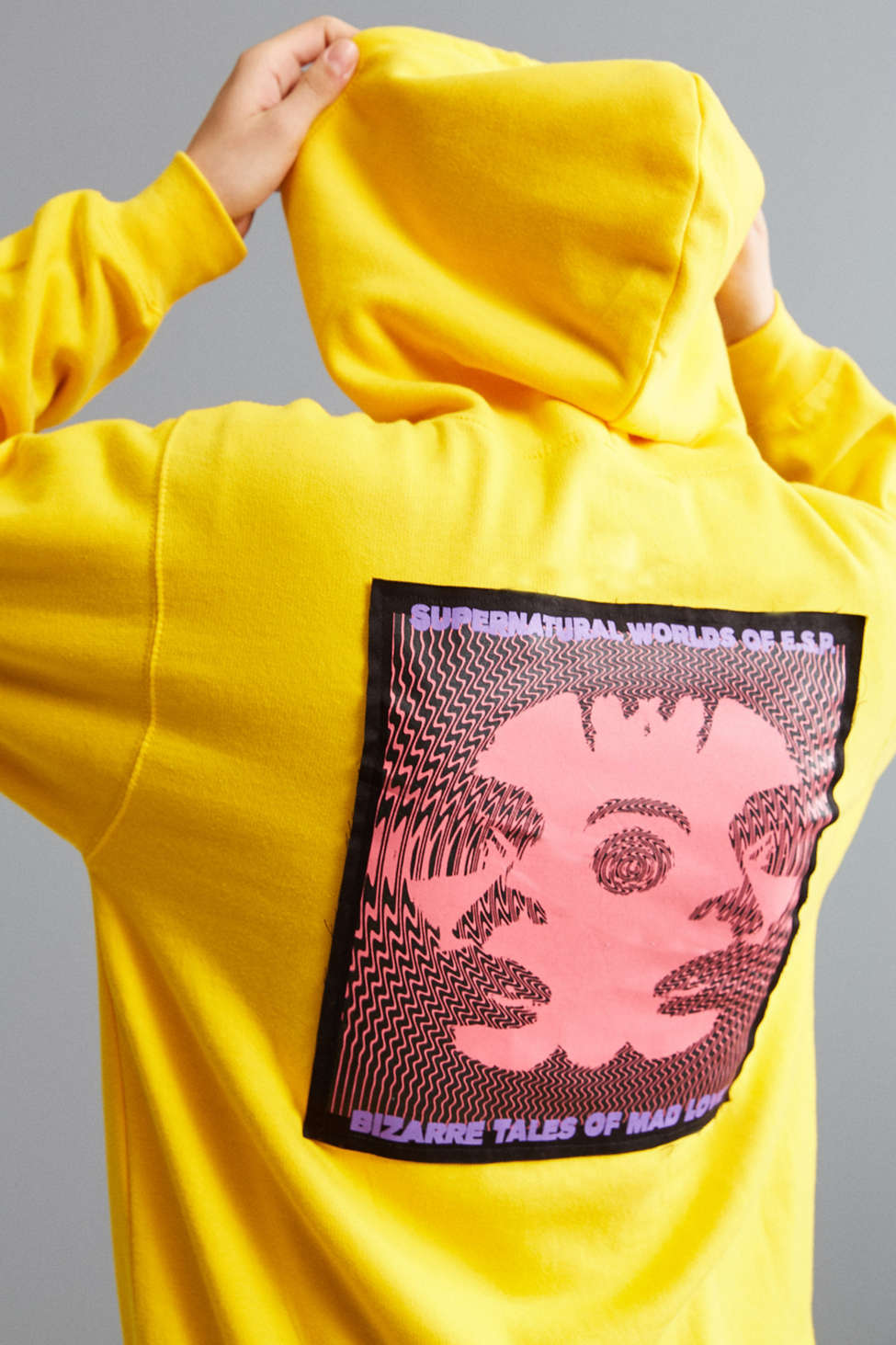Slide View: 1: Division Of Labor Supernatural Patch Hoodie Sweatshirt
