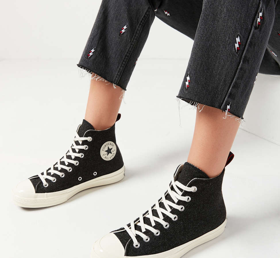 Slide View: 1: Converse Chuck 70 Felt High Top Sneaker
