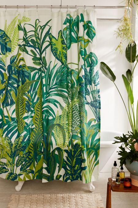 Dreamy jungle shower curtain