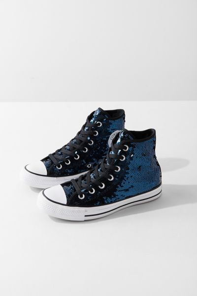 Converse Chuck Taylor All Star Sequin High Top Sneaker - Navy 5. at Urban Outfitters