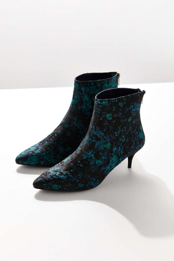 Blair Jacquard Kitten Heel Ankle Boot | Urban Outfitters