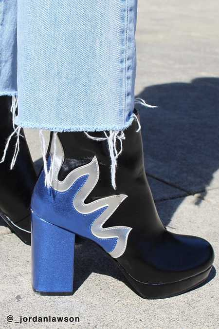 Flame Platform Ankle Boot